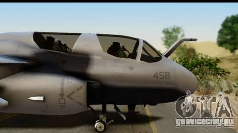 Northrop Grumman EA-6B VAQ-194 Skyshields для GTA San Andreas вид сзади слева