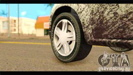 Dacia Sandero Dirty Version для GTA San Andreas вид сзади слева