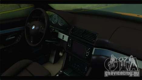 BMW M5 E39 Simply Cleaned для GTA San Andreas вид справа