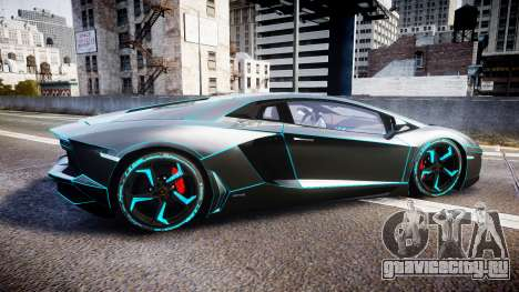 Lamborghini Aventador TRON Edition [EPM] Updated для GTA 4 вид слева