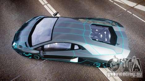 Lamborghini Aventador TRON Edition [EPM] Updated для GTA 4 вид справа