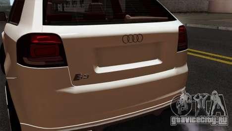 Audi S3 2011 для GTA San Andreas вид сзади