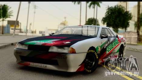 Elegy NASCAR PJ 2 для GTA San Andreas вид изнутри