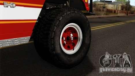 Hummer H1 Fire для GTA San Andreas вид сзади слева
