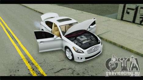 Infiniti M56 для GTA San Andreas вид сзади