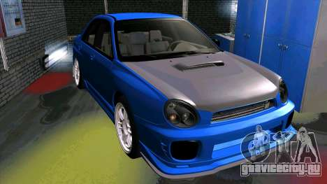Subaru Impreza WRX для GTA San Andreas вид сзади слева