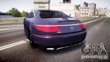 Mercedes-Benz S500 (C217) 2015 для GTA 4 вид сзади слева