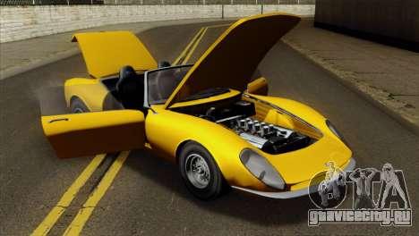GTA 5 Grotti Stinger v2 для GTA San Andreas вид сзади