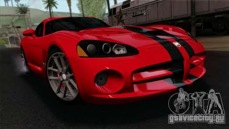 Dodge Viper SRT10 v1 для GTA San Andreas