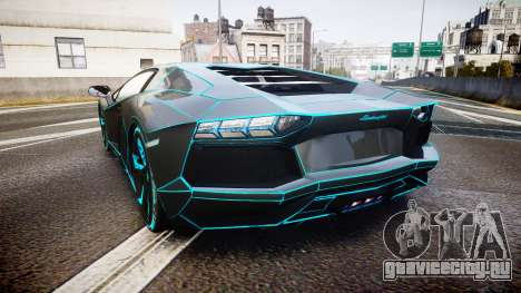 Lamborghini Aventador TRON Edition [EPM] Updated для GTA 4 вид сзади слева