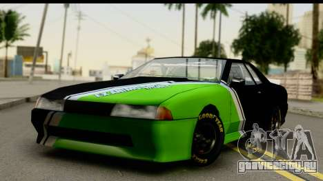 Elegy NASCAR PJ 2 для GTA San Andreas вид сзади