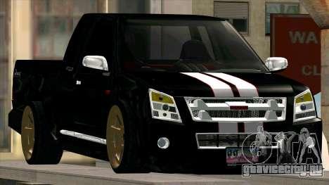 Isuzu D-Max X-Series для GTA San Andreas вид справа