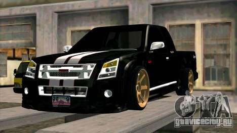 Isuzu D-Max X-Series для GTA San Andreas вид изнутри