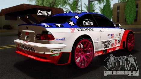 BMW M3 GTR 2001 Prototype Technology Group для GTA San Andreas вид слева