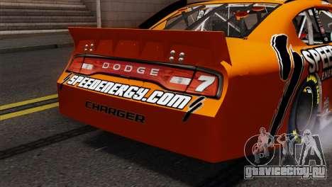 NASCAR Dodge Charger 2012 Short Track для GTA San Andreas вид сзади