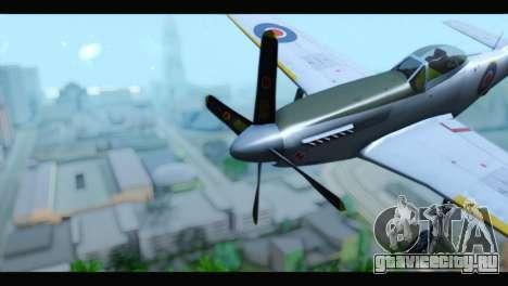 P-51 Mustang Mk4 для GTA San Andreas вид справа