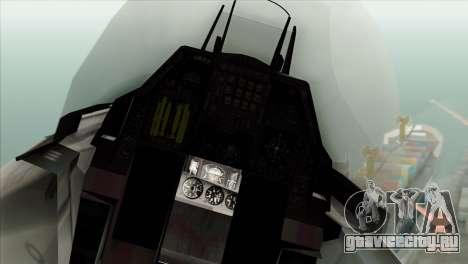 F-16C Fighting Falcon Wind Sword Squadron для GTA San Andreas вид сзади