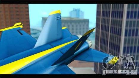 McDonnell Douglas FA-18 Blue Angel для GTA San Andreas вид сзади слева