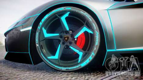 Lamborghini Aventador TRON Edition [EPM] Updated для GTA 4 вид сзади