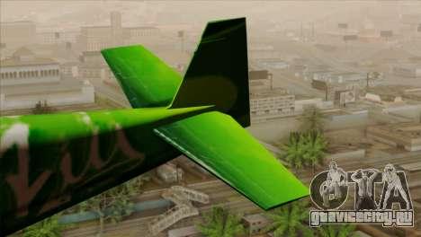 GTA 5 Stuntplane Spunck для GTA San Andreas вид сзади слева