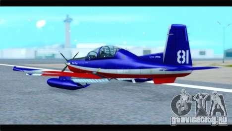 Beechcraft T-6 Texan II Red для GTA San Andreas вид слева