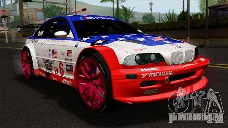 BMW M3 GTR 2001 Prototype Technology Group для GTA San Andreas