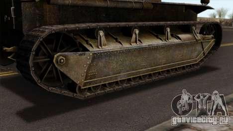 T2 Medium Tank для GTA San Andreas вид сзади слева