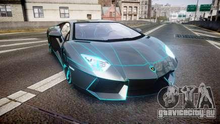Lamborghini Aventador TRON Edition [EPM] Updated для GTA 4