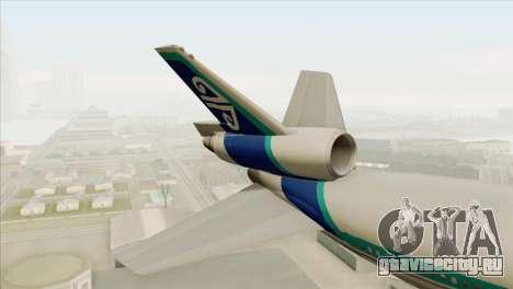 DC-10-30 Air New Zealand для GTA San Andreas вид сзади слева