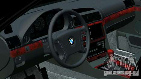 BMW 750i e38 для GTA San Andreas салон