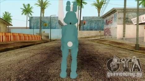 Toy Bonnie from Five Nights at Freddy 2 для GTA San Andreas второй скриншот