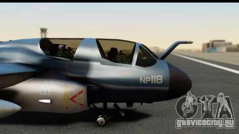 Northrop Grumman EA-6B ISAF для GTA San Andreas вид сзади