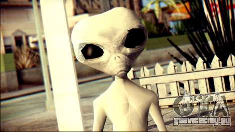 Gray Alien Skin Skin для GTA San Andreas третий скриншот
