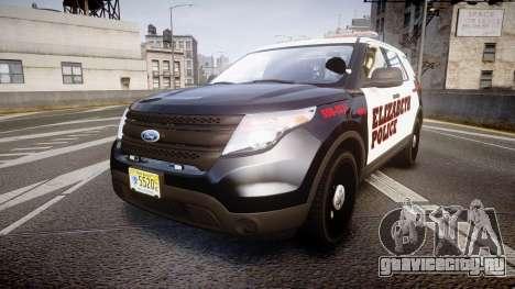 Ford Explorer 2011 Elizabeth Police [ELS] для GTA 4