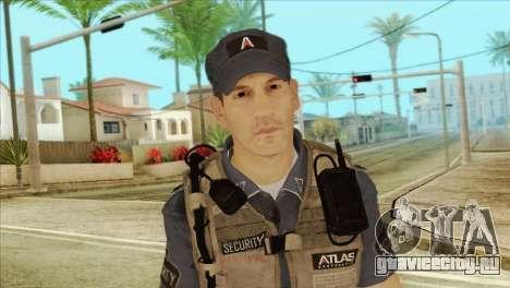 COD Advanced Warfare Jon Bernthal Security Guard для GTA San Andreas третий скриншот