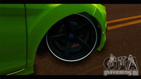 Ford Fiesta для GTA San Andreas вид сзади слева