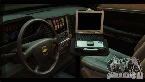 Chevrolet Suburban 2015 SANG для GTA San Andreas вид справа