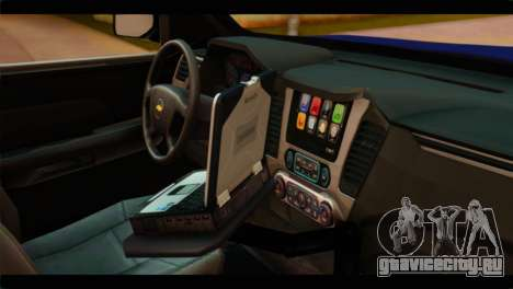 Chevrolet Suburban 2015 BCSD Sheriff для GTA San Andreas вид справа