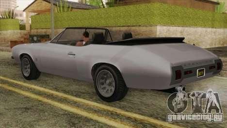 GTA 5 Declasse Stallion IVF для GTA San Andreas вид слева