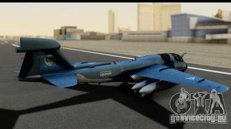 Northrop Grumman EA-6B ISAF для GTA San Andreas вид сзади слева