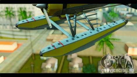 GTA 5 Sea Plane для GTA San Andreas вид сзади