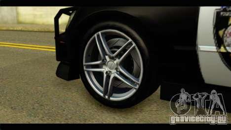 Toyota Altezza Police для GTA San Andreas вид сзади слева