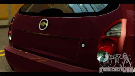 Chevrolet Celta VHC 1.0 для GTA San Andreas вид сзади
