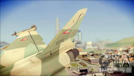 EuroFighter Typhoon 2000 Hungarian Air Force для GTA San Andreas вид сзади слева