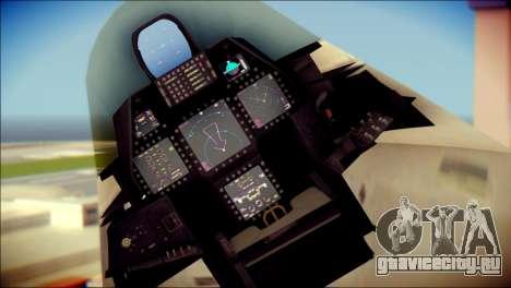 FA-18D Hornet Blue Angels для GTA San Andreas вид справа