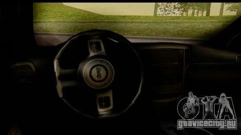 Jeep Grand Cherokee SRT8 2014 для GTA San Andreas вид изнутри