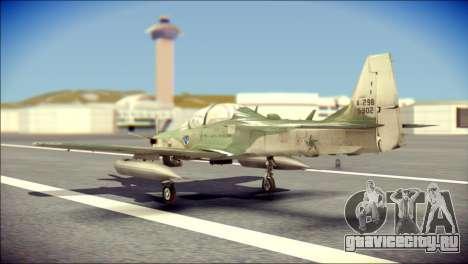 Embraer EMB-314 Super Tucano E для GTA San Andreas вид слева