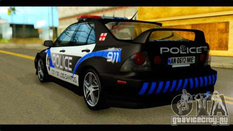 Toyota Altezza Police для GTA San Andreas вид слева