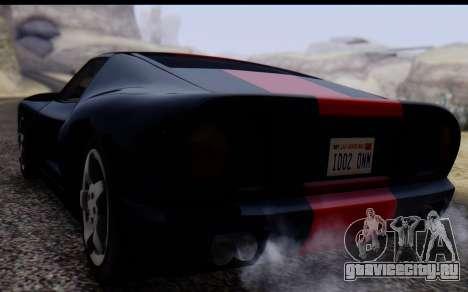 Bullet PFR v1.1 HD для GTA San Andreas вид сзади