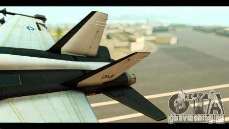 McDonnell Douglas FA-18 HARV v2 для GTA San Andreas вид сзади слева